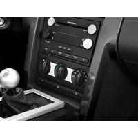 Aluminium trim mellan A/C knapparna Mustang 05-09 Satin